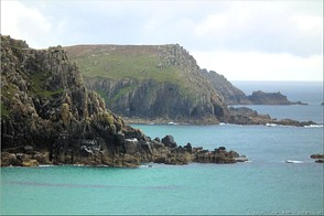 Carn les Boel, Carn Barra and Carn Guthensbras, south of Land's End, Cornwall.  Photo: Landsend-30256