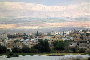 Looking over Jericho across the Jordan valley from Palestine to Jordan. Photo Jericho-20931