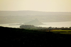 St Michael's Mount, seen from Botrea Hill
