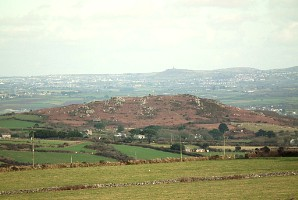 Trencrom Hill from the west - Carn Brea behind