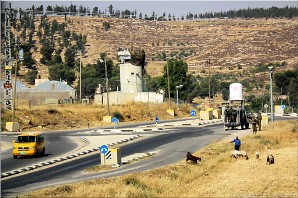 Israeli checkpoint, southern West Bank, Palestine | Photo Hebron-area-14079